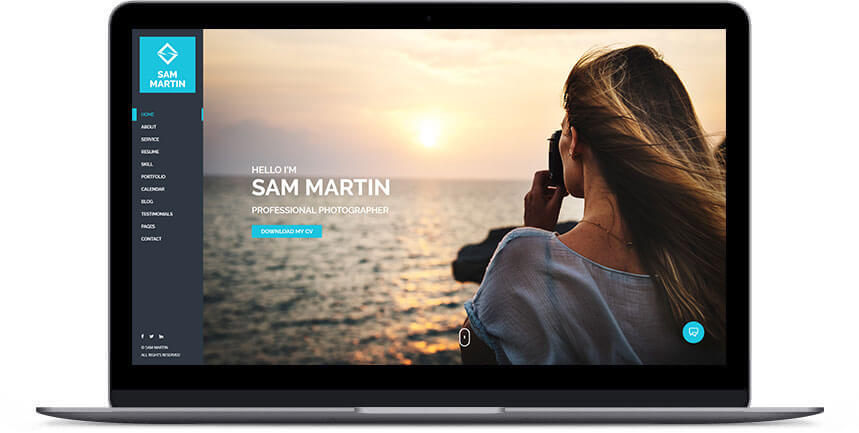 photographer wordpress theme 1