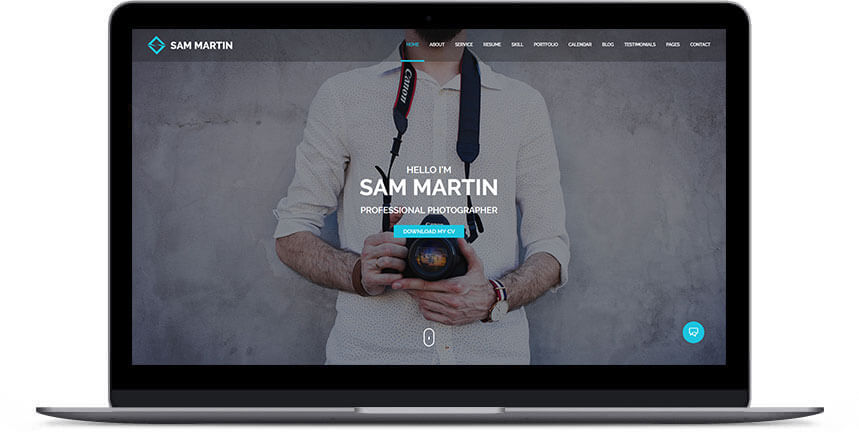 photographer wordpress theme 2