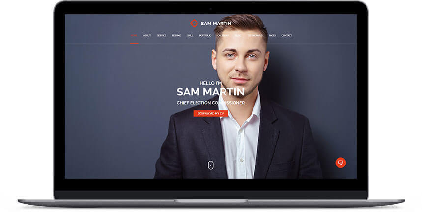 politician wordpress theme 3