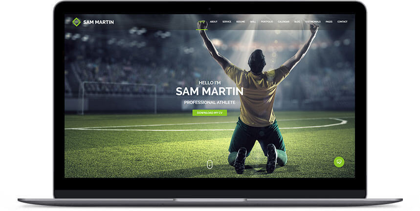 athlete wordpress theme 2