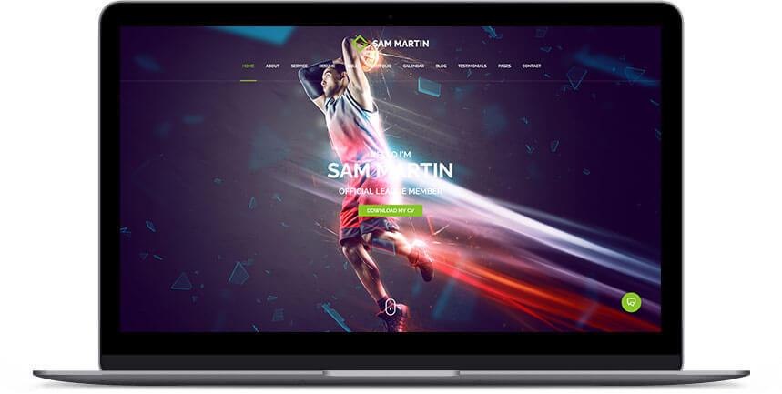 athlete wordpress theme 3