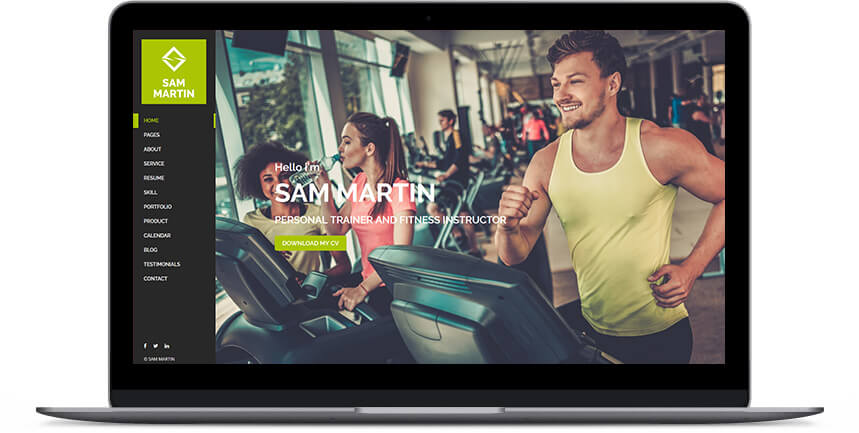 fitness wordpress themes 1