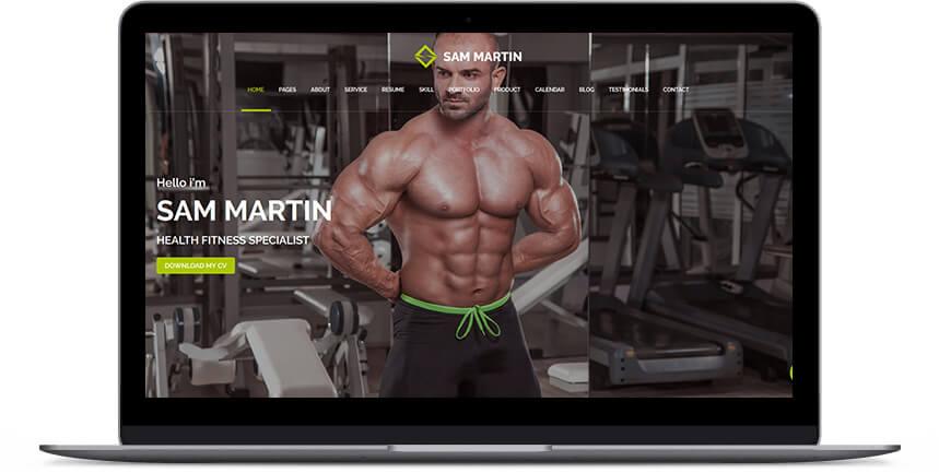 fitness wordpress themes 3