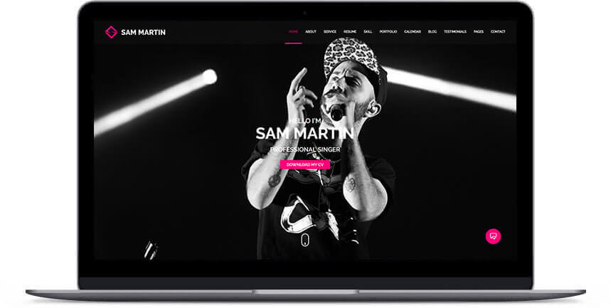 wordpress musician themes 2