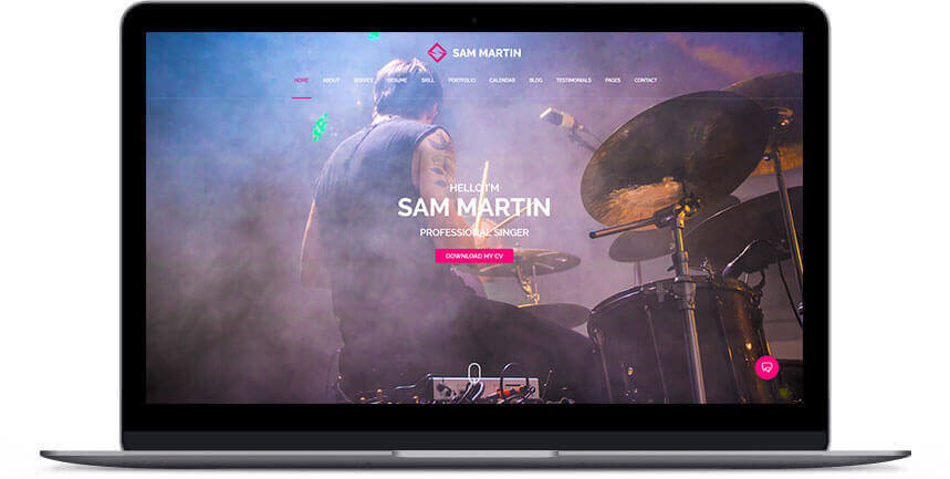 wordpress musician themes 3